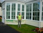 102 - Roger in front of the St Helens orangery